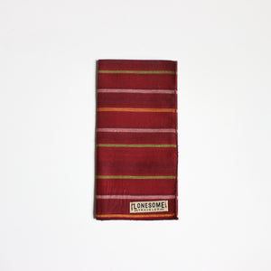 Red Stripe Pocket Square