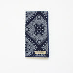 Navy Bandana Print Pocket Square