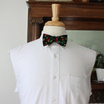 Holly Floral Bow Tie with Metallic Gold Highlights