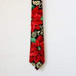 Mistletoe Holiday Floral with Metallic Gold Highlights