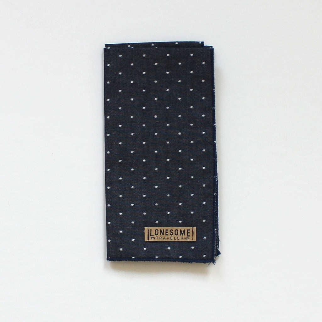 Navy Chambray Dot Pocket Square