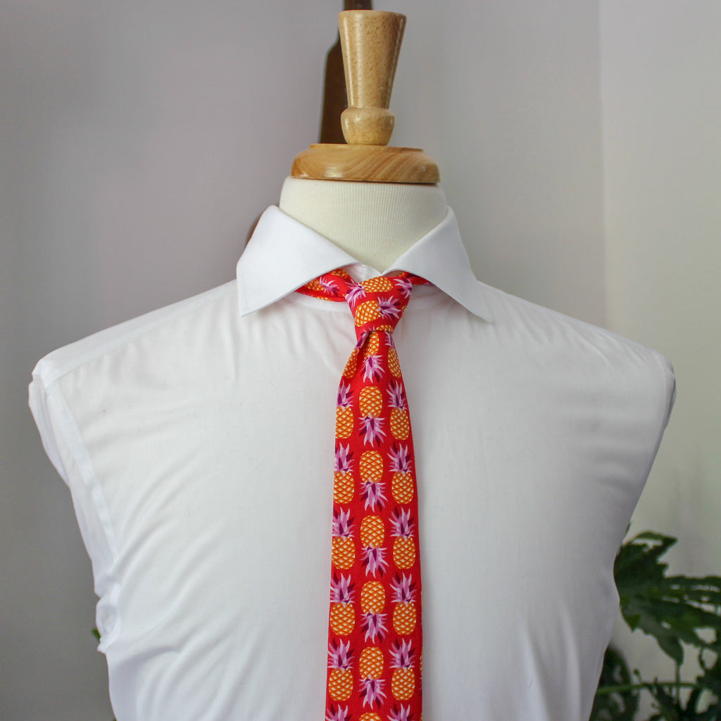 Fruity Pie Necktie in Pineapple