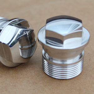 mirror polished stainless steel honda fork nuts 90123-300-000