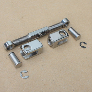 kawasaki h1 h2 shifter linkage set in polished stainless
