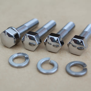 kawasaki 13mm af handlebar bolts polished stainless steel