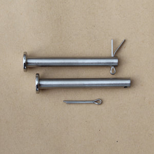 two stainless steel seat pins for classic kawasaki bikes 53011-002