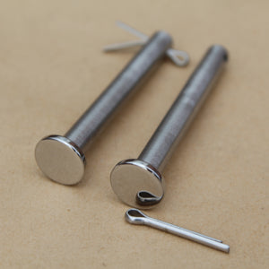 53011-002 classic kawasaki stainless seat pins with polished heads