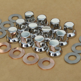 Kawasaki 92015-076 Cylinder head nut and washer set in stainless steel.