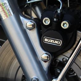 suzuki gt caliper bolts fitted to motorcycle
