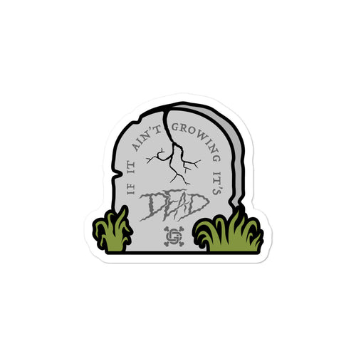 It's Dead Tombstone Sticker