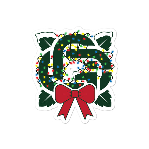 GC Christmas Logo Sticker