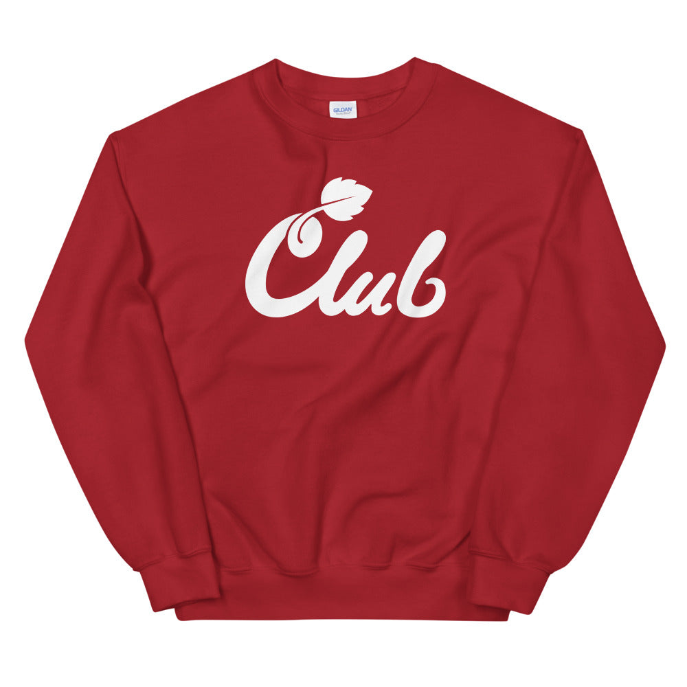 Club Script Sweatshirt Cranberry