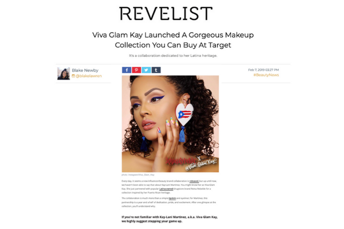 revelist - a makeup collaboration with Latina-owned cosmetics brand Reina Rebelde