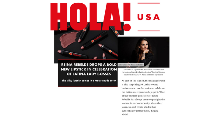 HOLA USA:  CELEBRATES OUR LATEST LAUNCH -- LA JEFA