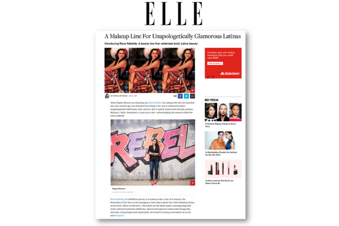 Elle calls Reina Rebelde, the makeup line for unapologetically glamorous Latinas