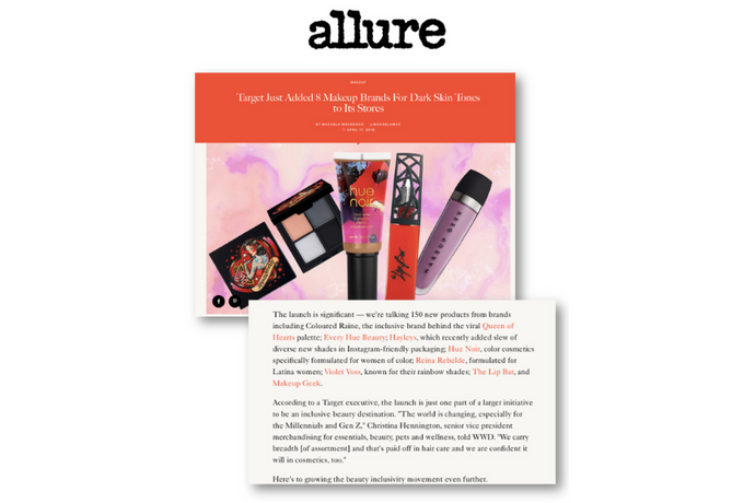 Allure - Reina Rebelde hits Target stores as part of their new darker skin tone lineup