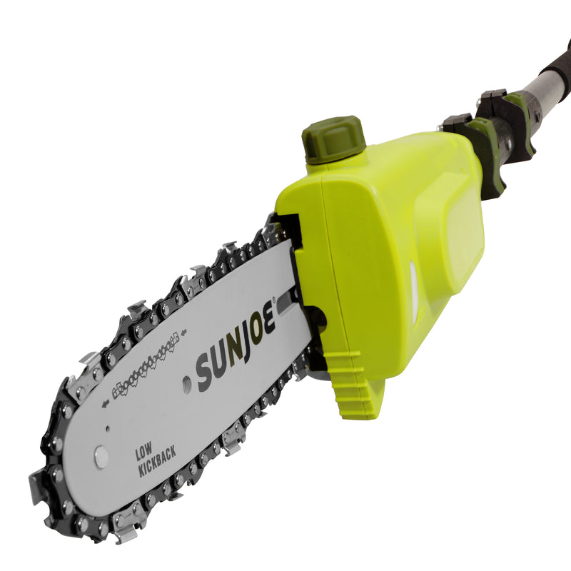 Sun Joe 20VIONLT-PS8-SJG Cordless Telescoping Pole Chain Saw | 8-inch | 2.5-Amp | 20-Volt