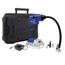 24-Volt 2.0-Ah Air Joe Pro Digital Cordless Air Compressor with Nozzle Adapters and Storage Case (Blue)