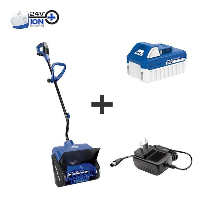 Snow Joe 24V-SS13 24-Volt iON+ Cordless Snow Shovel Kit | 13-Inch | W/ 4.0-Ah Battery and Charge