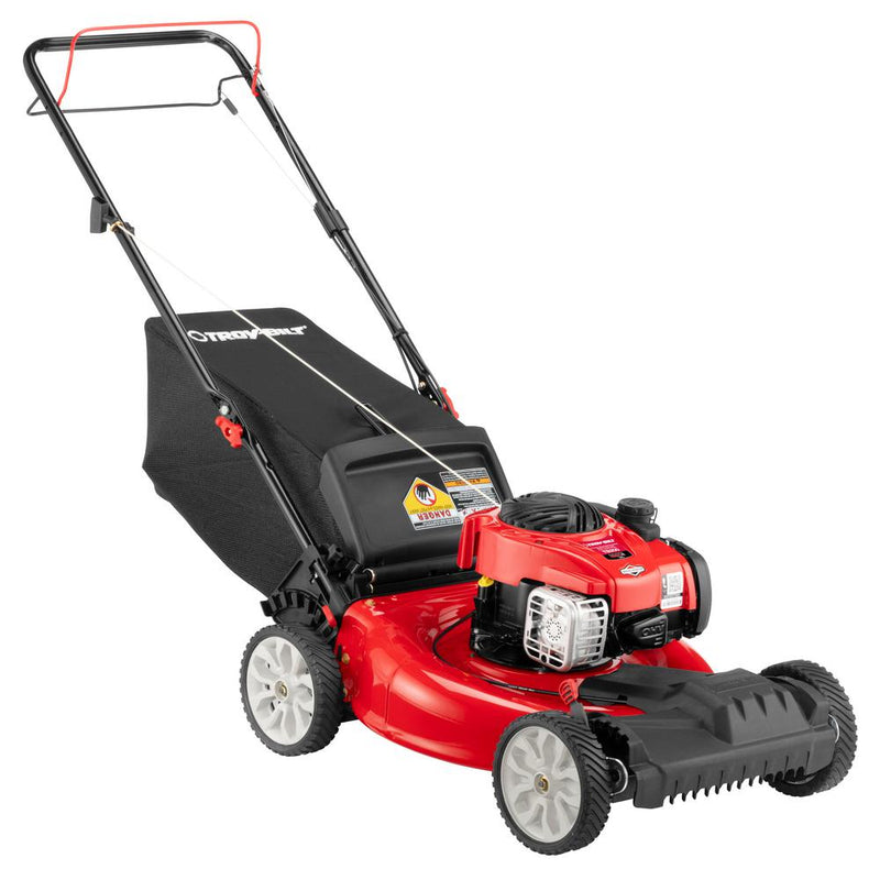 Troy-Bilt TB200 21 in. 140 cc 550e Series Briggs & Stratton Gas Walk Behind Self Propelled Lawn Mower w/ 2-in-1 TriAction Cutting System