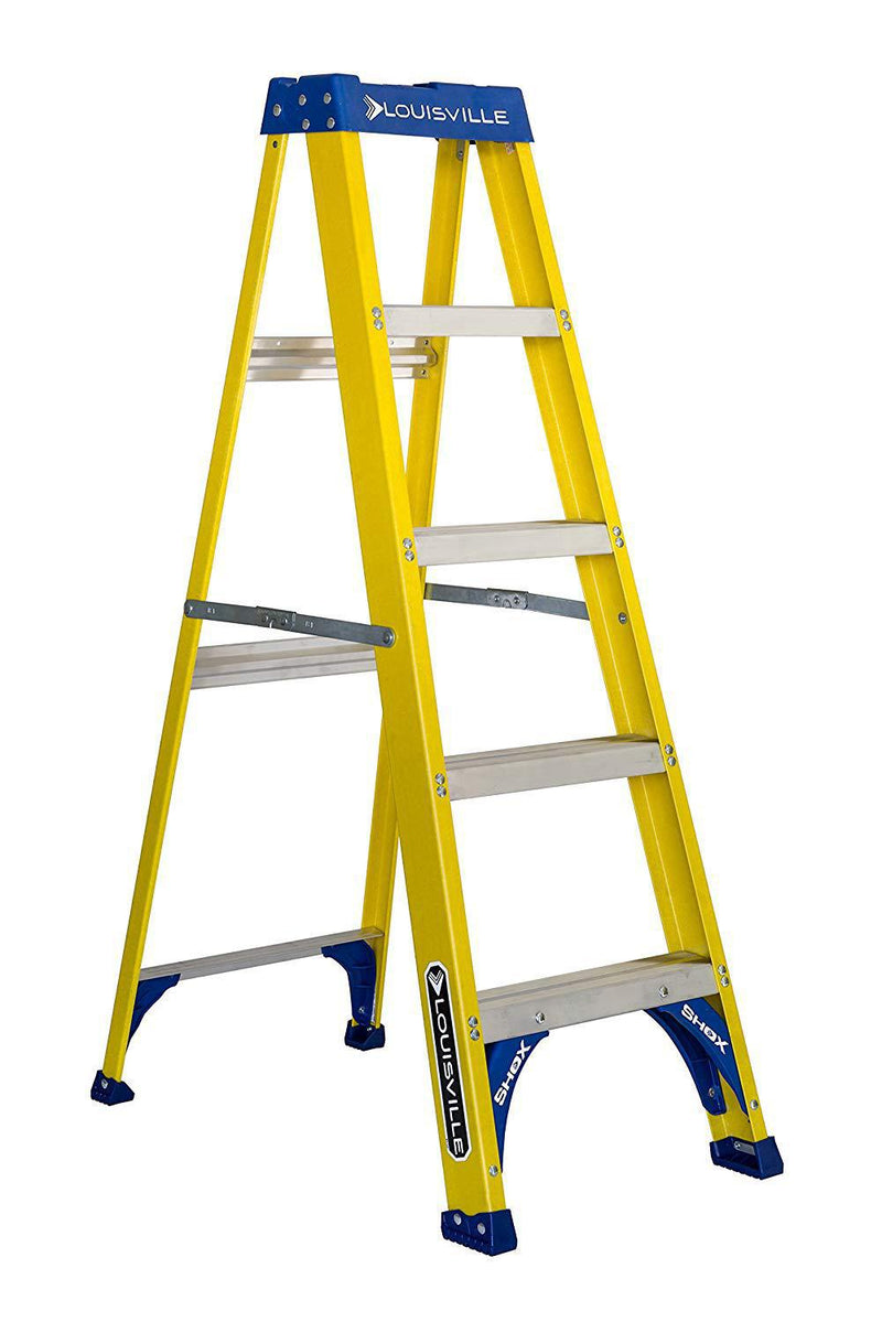 Louisville Ladder 5-Feet Fiberglass Step Ladder, 250-Pound Capacity, FS2005