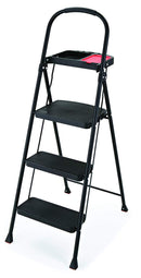 Rubbermaid RMS-3T 3-Step Steel Step Stool with Project Tray, 225-pound Capacity