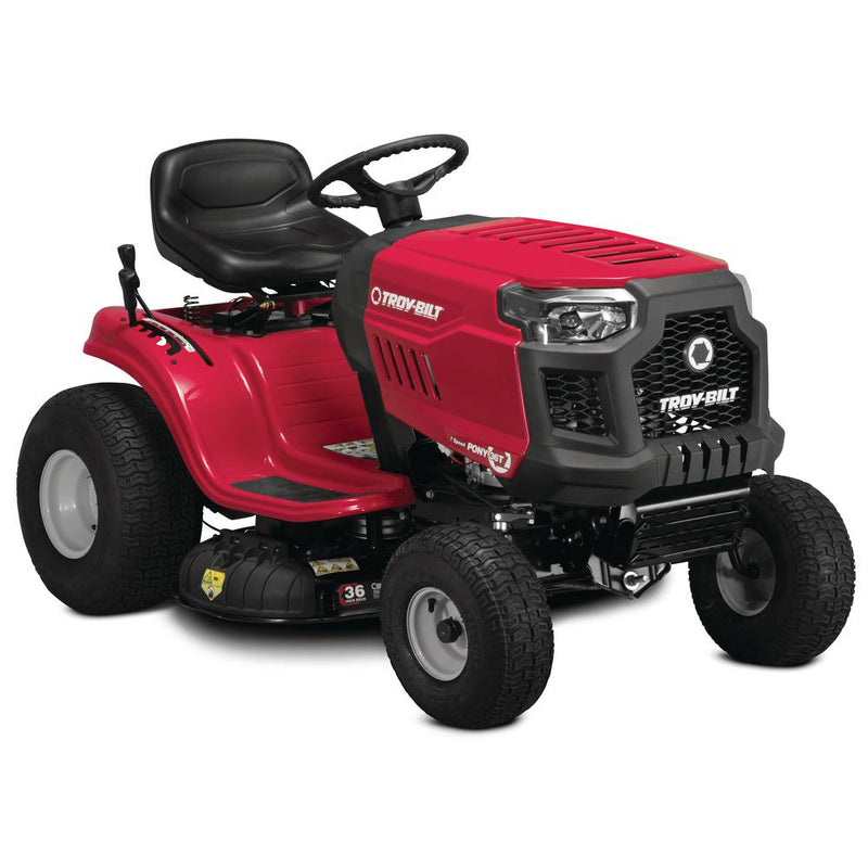Pony 36 in. 382 cc Auto-Choke Engine 7-Speed Gas Manual Drive Mulching Riding Lawn Tractor