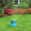 Aqua Joe AJ-OSPR20 20-Nozzle Max Coverage Adjustable Gear Driven Oscillating Sprinkler on Sled Base