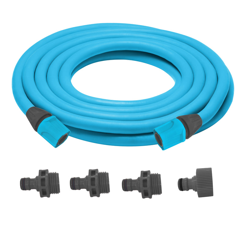 Sun Joe AJEXH50-SJB Expandable Lightweight Kink-Free Hose | 50-Foot | Quick Connectors