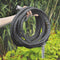 Aqua Joe AJFJH50-PRO Ultra Flexible Kink Free Fiberjacket Garden Hose | 50-Foot | Metal Fittings | Metal Twist Nozzle Included