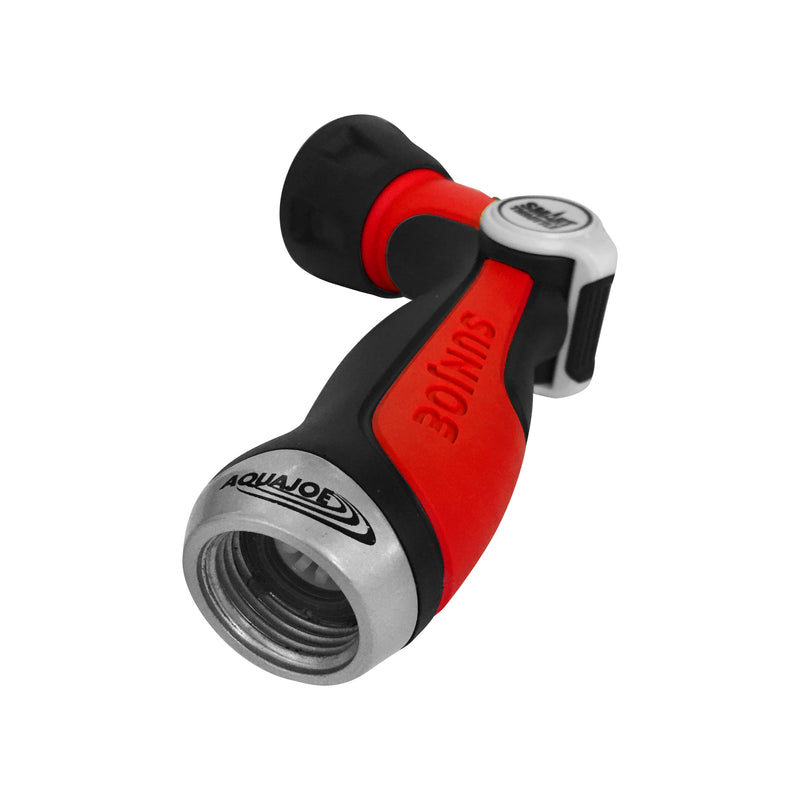 Aqua Joe AJHN100-2-RED One Touch Adjustable Hose Nozzle | Smart Throttle Control | 2-Pack (Colors Will Vary)*