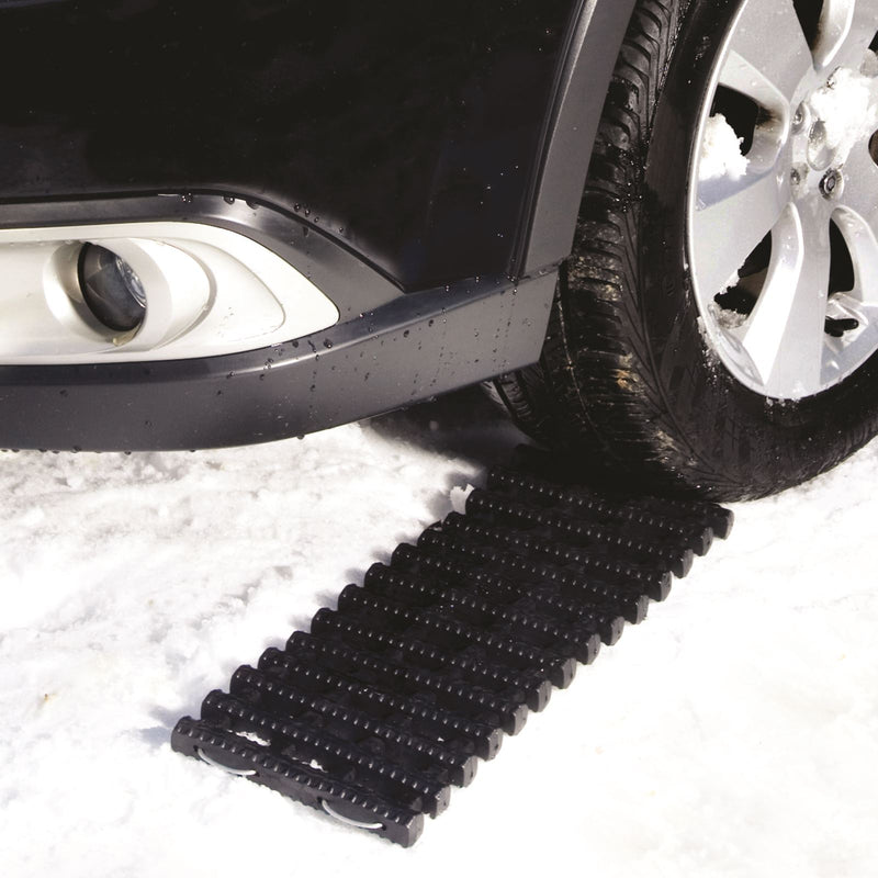 OPEN BOX Snow Joe ATJ651 Thermoplastic Rubber TrackAssist Non-Slip Traction | 24-Inch | For Car Tires in Ice, Snow, Mud, and Sand (Black)
