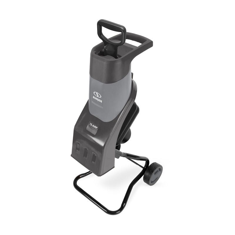 Sun Joe CJ602E-GRY Electric Wood Chipper | 17:1 Reduction | 15 Amp | Grey