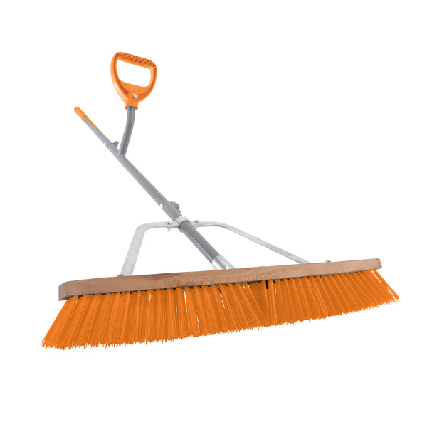 Ergie Systems ERG-PSHB24 Steel Shaft Strain Reducing Indoor/Outdoor Push Broom | 56-Inch Shaft | 24-Inch Broom