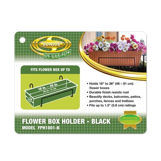 Sun Joe Deco Joe Flower Box Holder in Black