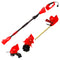 Sun Joe GTS4000E-RED Electric Lawn Care System | Pole Hedge Trimmer | Grass Trimmer | Garden Tiller, Red
