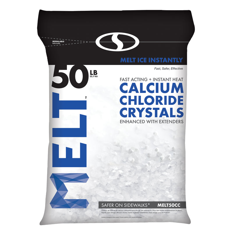 MELT 50 Lb. Resealable Bag Calcium Chloride Crystals Ice Melter