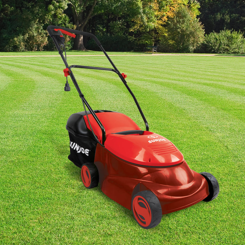 Sun Joe MJ401E-PRO-RED Electric Lawn Mower | 14-Inch | 13-Amp | Side Discharge Chute (Red)
