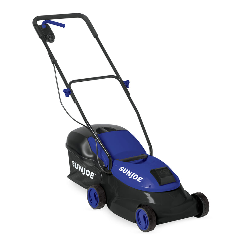 Sun Joe MJ401C-XR-SJB Cordless Lawn Mower | 14 inch | 28V | 5 Ah | Brushless Motor (Blue)