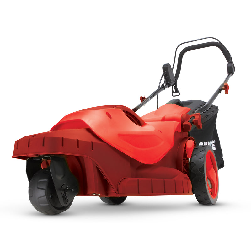 Sun Joe MJ404E-360-RED Electric Lawn Mower | 3-Wheels |16 Inch | 12 Amp | 360 Degrees Turn Radius (Red)