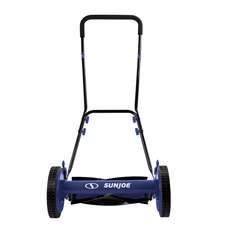 Sun Joe MJ504M-SJB Manual Reel Mower without Grass Catcher | 16 inch | 9 Height Positions (Blue)