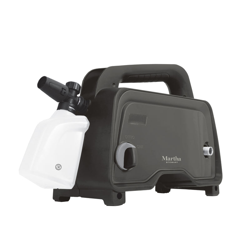 Martha Stewart MTS-1300PW-MBK Electric Pressure Washer with Adjustable Spray Wand | 1450 Max PSI | 11 Amp | 1.4 GPM (Black)