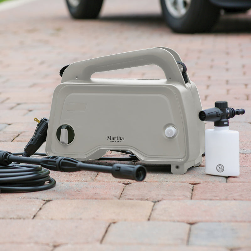 Martha Stewart MTS-1300PW-MPL Electric Pressure Washer with Adjustable Spray Wand | 1450 Max PSI | 11 Amp | 1.4 GPM (Slate)