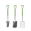 Martha Stewart MTS-DGT3 Stainless Steel Garden Digging Tool Set with Shovel, Garden Fork and Transplanting Spade | 40-Inch