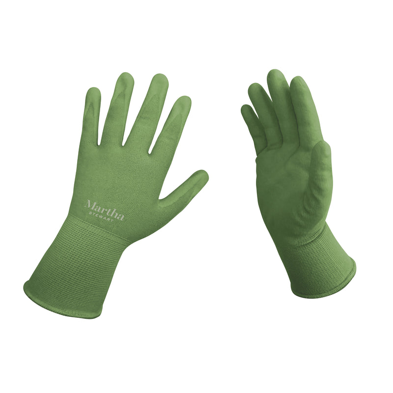 Martha Stewart MTS-GLVNP1-L Nitrile Coated Palm Breathable All-Purpose Non-Slip Grip Garden Gloves (Large)