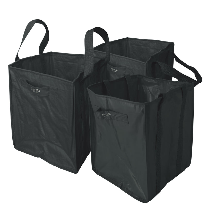 Martha Stewart MTS-MLB3-MBK 3-Pk. 20-In x 20-In x 24-In All-Purpose Garden Bag (Black)