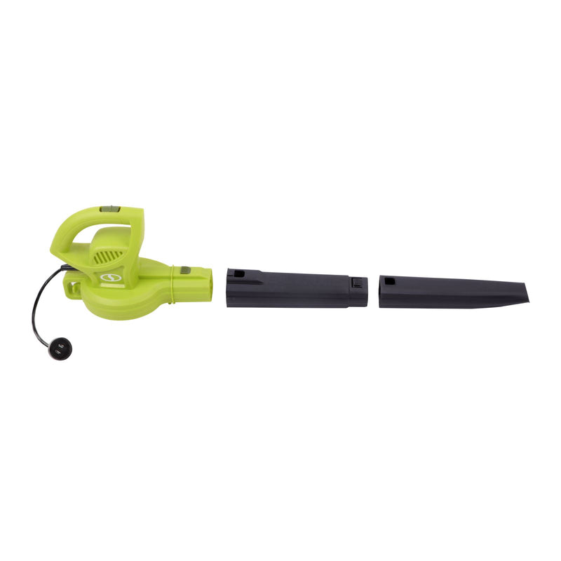 OPEN BOX Sun Joe SBJ597E All Purpose Electric Blower | 155 MPH | 6 Amp (Green)