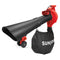 Sun Joe SBJ605E-RED 3-in-1 Electric Blower | 250 MPH | 14 Amp | Vacuum | Mulcher, Red