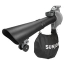 Sun Joe SBJ606E-GA-GRY 4-in-1 Electric Blower | 250 MPH | 14 Amp | Vacuum | Mulcher | Gutter Cleaner (Grey)