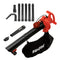 Sun Joe SBJ606E-GA-RED 4-in-1 Electric Blower | 250 MPH | 14 Amp | Vacuum | Mulcher | Gutter Cleaner (Red)